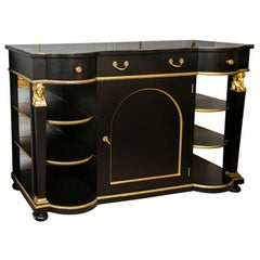 Exceptional French Empire Style Ebonized Server / Sideboard / Credenza by Jansen