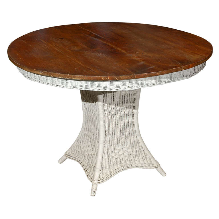 antique american wicker table at 1stdibs