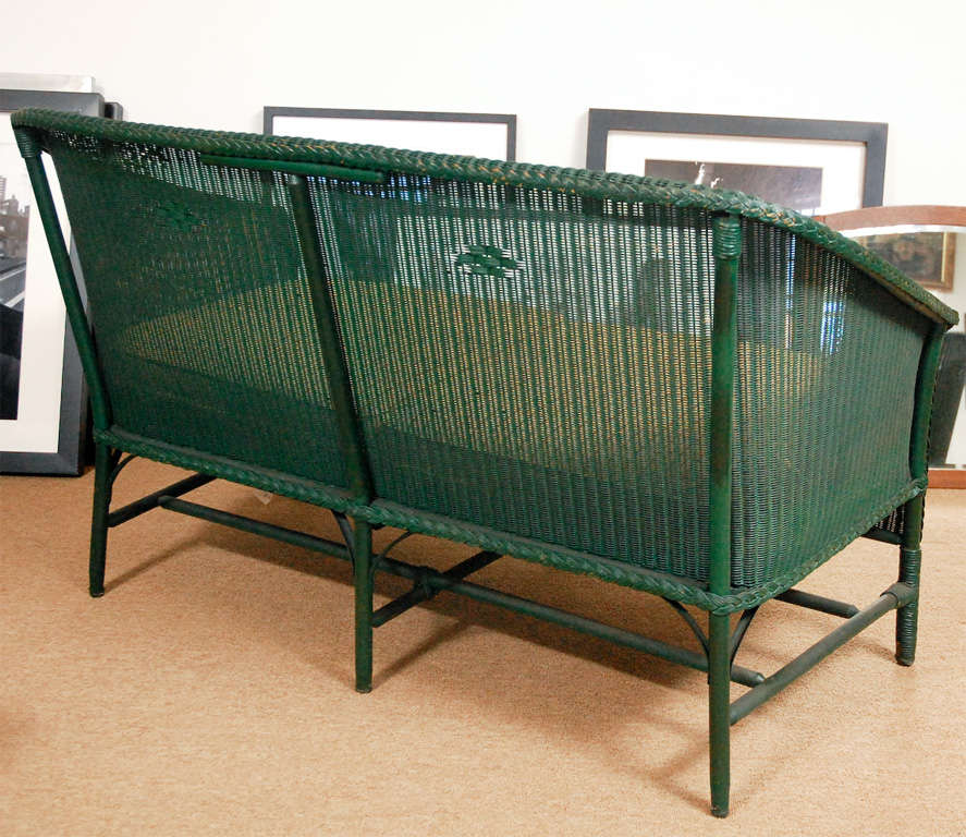 American 3pc Suite of Wicker Furniture For Sale