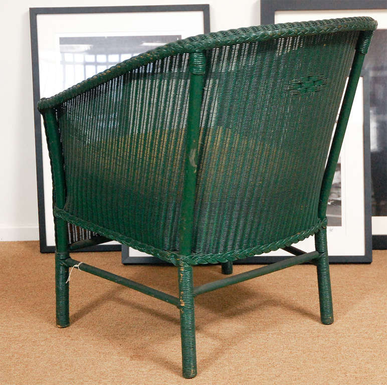 Mid-20th Century 3pc Suite of Wicker Furniture For Sale