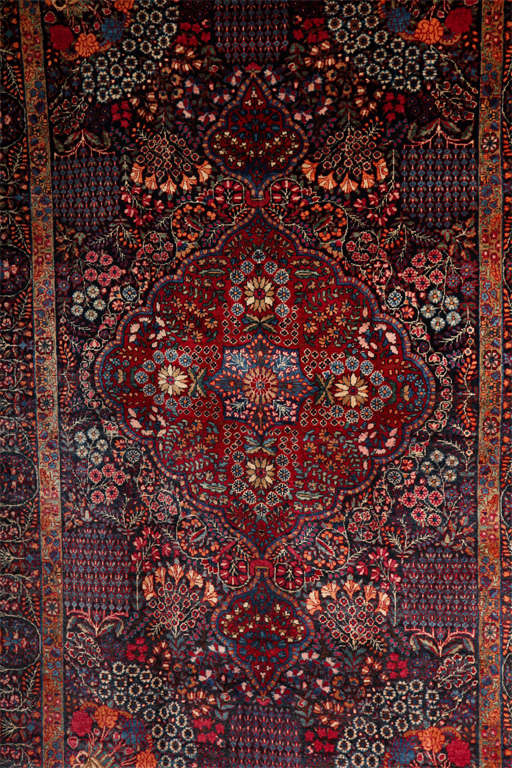 Tabriz Persian Amoghli Carpet with Organic Wool and Dyes, circa 1890 For Sale