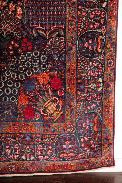 19th Century Persian Amoghli Carpet with Organic Wool and Dyes, circa 1890 For Sale