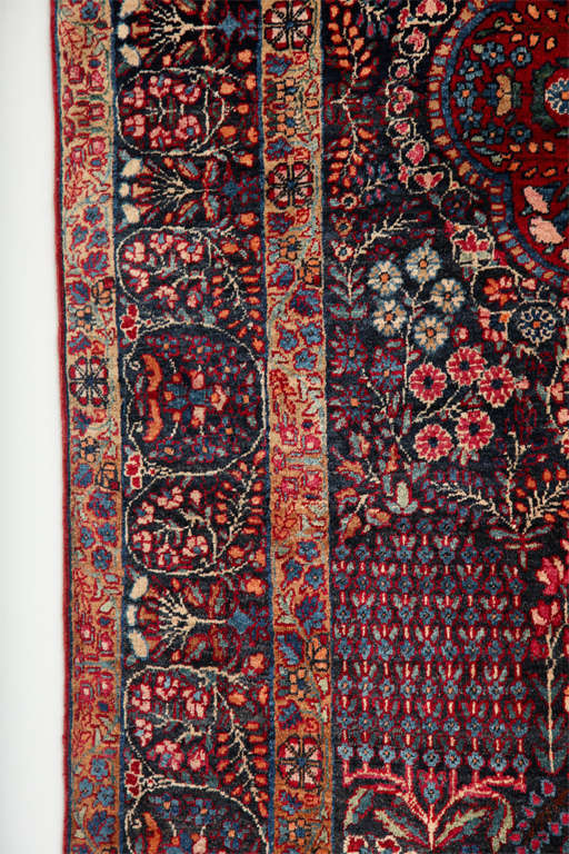 Persian Amoghli Carpet with Organic Wool and Dyes, circa 1890 For Sale 2