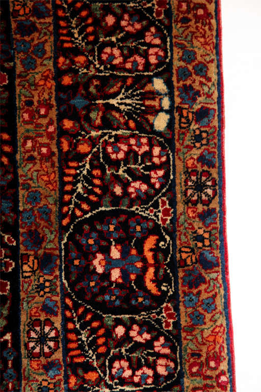 Persian Amoghli Carpet with Organic Wool and Dyes, circa 1890 For Sale 3