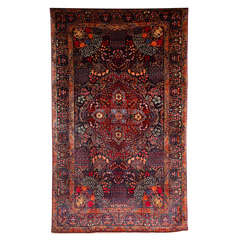 Persian Amoghli Carpet with Organic Wool and Dyes, circa 1890