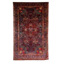Persian Amoghli Carpet with Organic Wool and Dyes, circa 1890