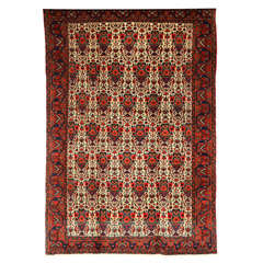 Persian Zele Sultan Carpet with Wool Pile and Natural Dyes, circa 1900