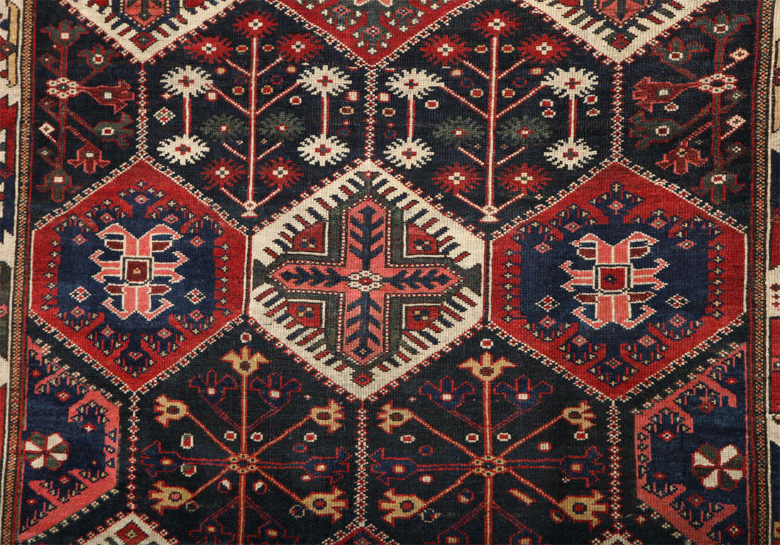 Persian Bibibaft Bakhtiari Carpet from Nooch Village, circa 1890 In Excellent Condition For Sale In New York, NY