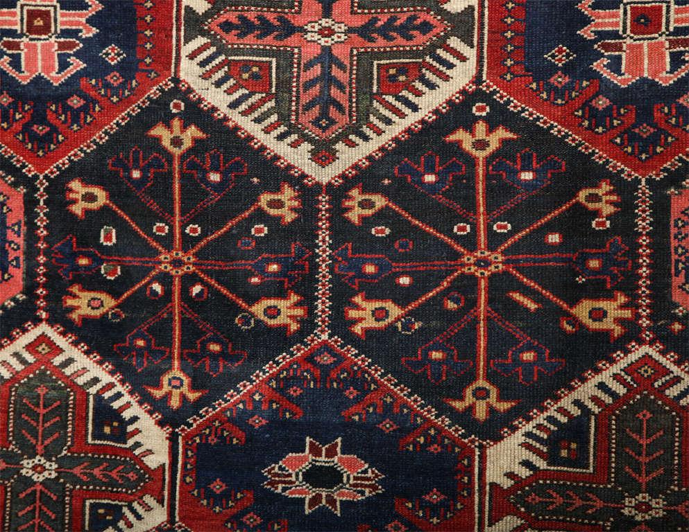 19th Century Persian Bibibaft Bakhtiari Carpet from Nooch Village, circa 1890 For Sale