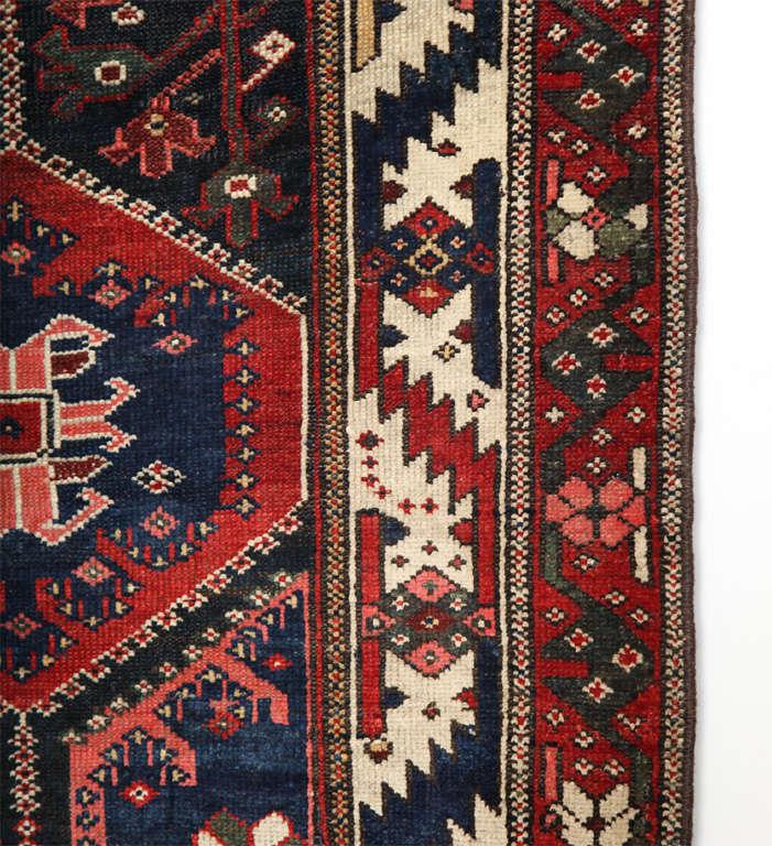 Wool Persian Bibibaft Bakhtiari Carpet from Nooch Village, circa 1890 For Sale
