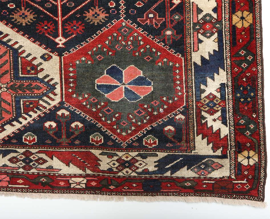 Persian Bibibaft Bakhtiari Carpet from Nooch Village, circa 1890 For Sale 1