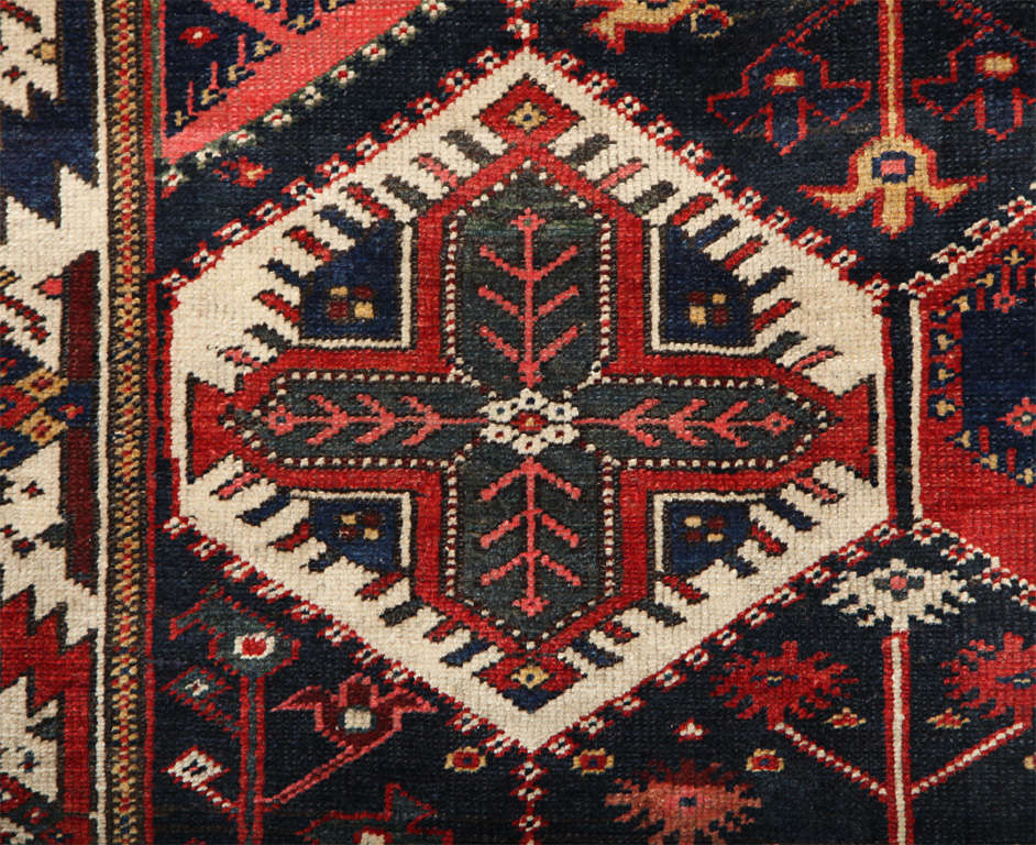 Persian Bibibaft Bakhtiari Carpet from Nooch Village, circa 1890 For Sale 2