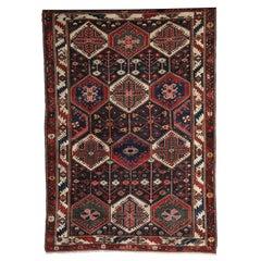 Persian Bibibaft Bakhtiari Carpet from Nooch Village, circa 1890