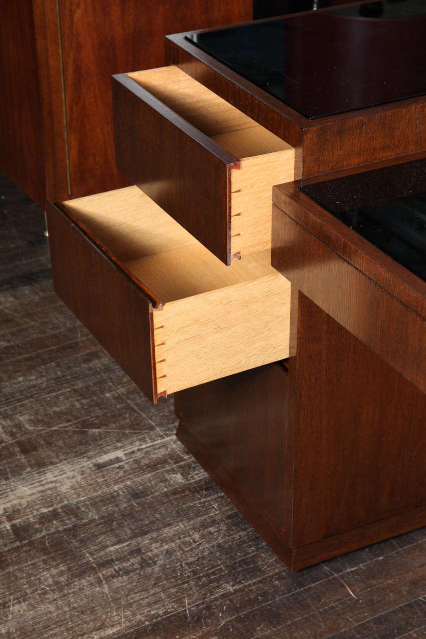 Unique 5 Drawer Desk By Eugene Schoen At 1stdibs