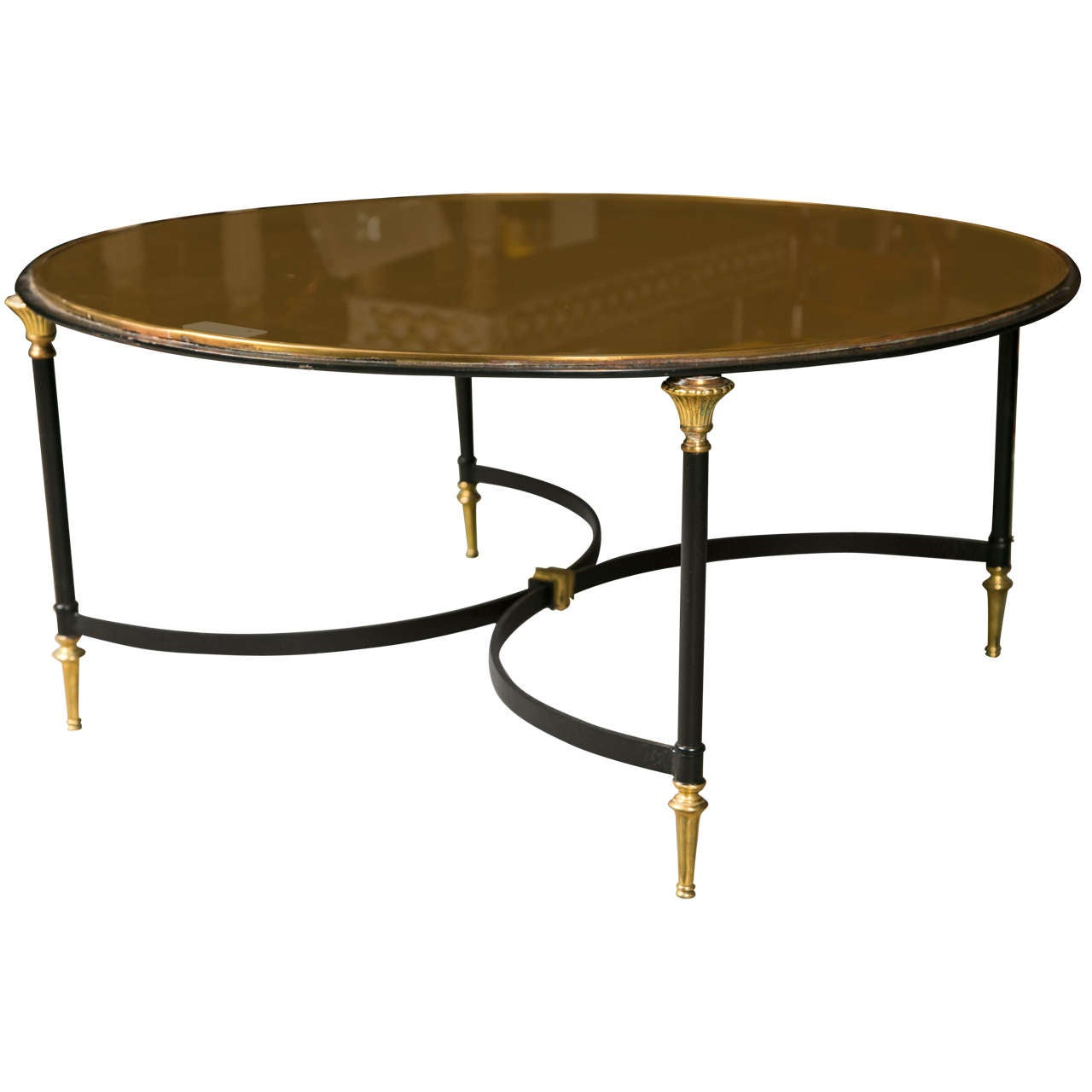Hollywood regency style circular coffee table at 1stdibs Vogue coffee table