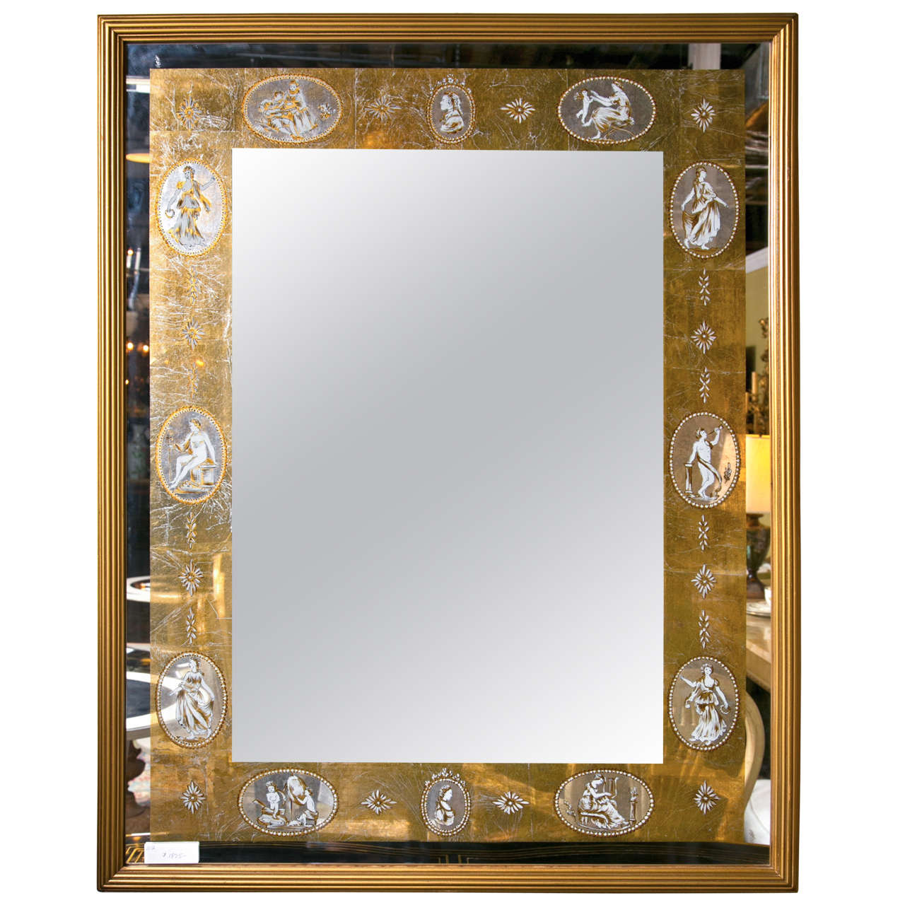 Hollywood Regency Style Gilded Mirror At 1stdibs