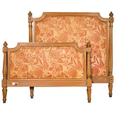 French Louis XVI Style Twin Size Bed Frame by Jansen