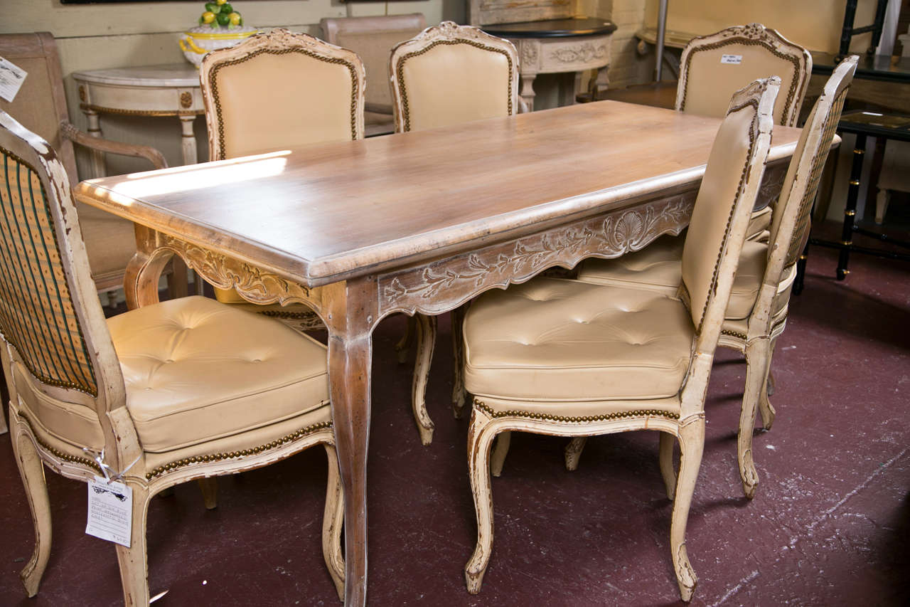 French Provincial Style Dining Table For Sale 2