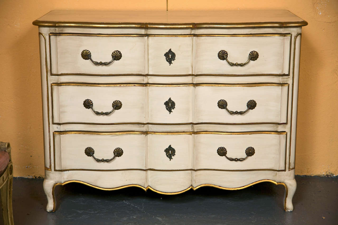 french louis xv style commode stamped jansen at 1stdibs. Black Bedroom Furniture Sets. Home Design Ideas