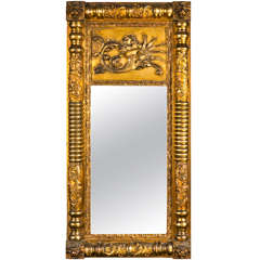 French Empire Style Giltwood Mirror