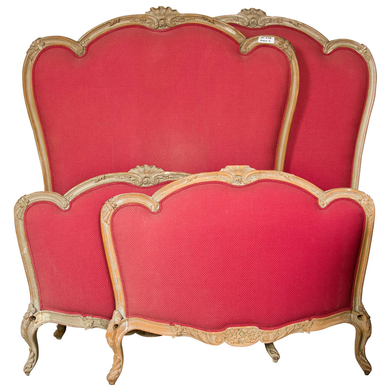 Pair Of French Louis XV Style Twin Bed Frames By Jansen For Sale