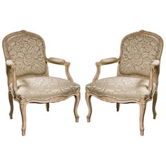 Pair of French Louis XV Style Armchairs