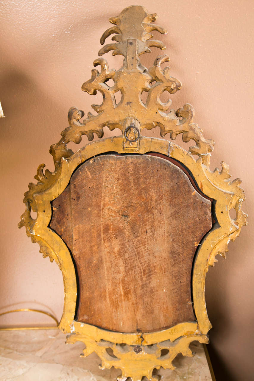 Pair of french rococo style mirror girandoles at 1stdibs for French rococo period