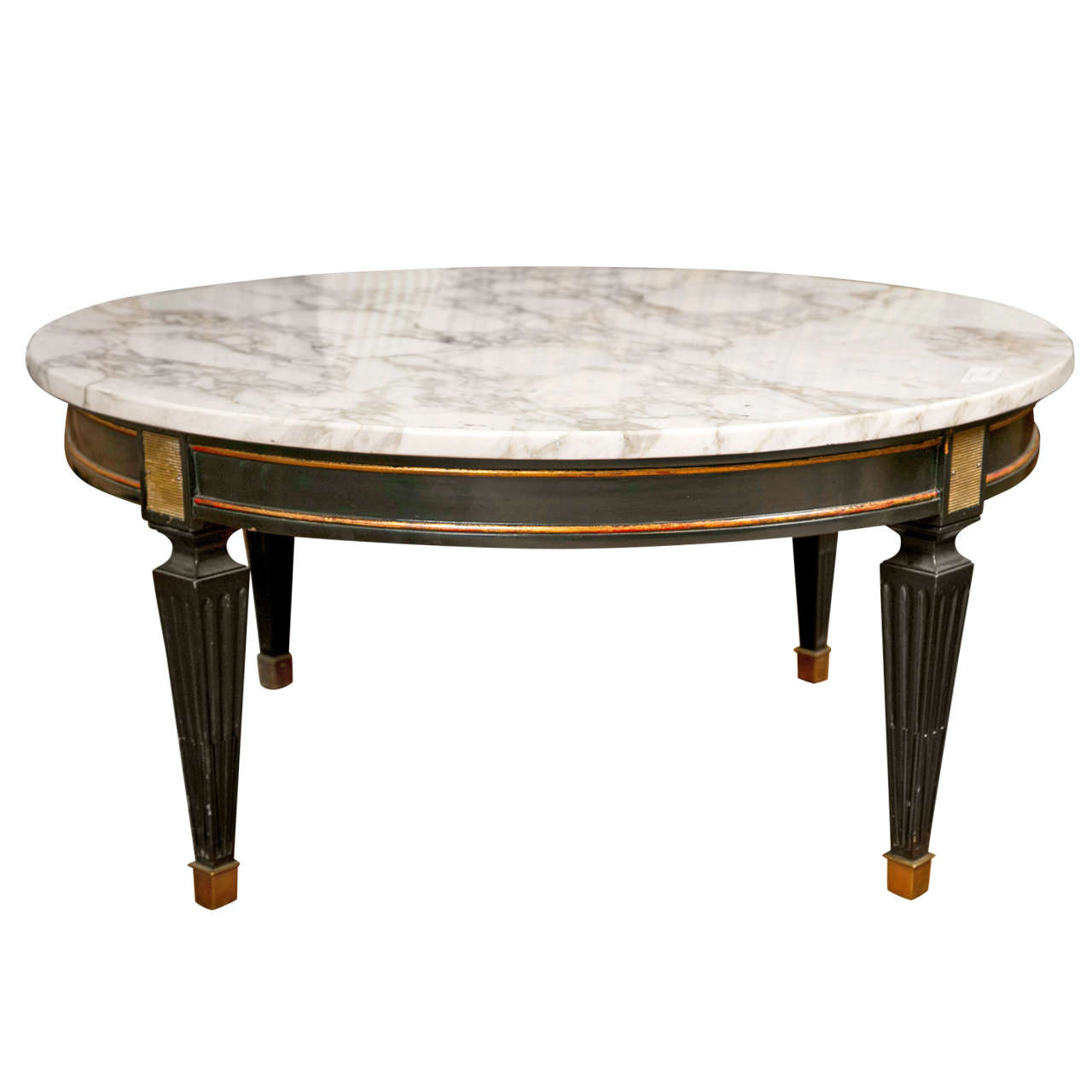 French Directoire Style Circular Coffee Table For Sale At