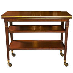French Directoire Style Mahogany Tea Cart by Jansen