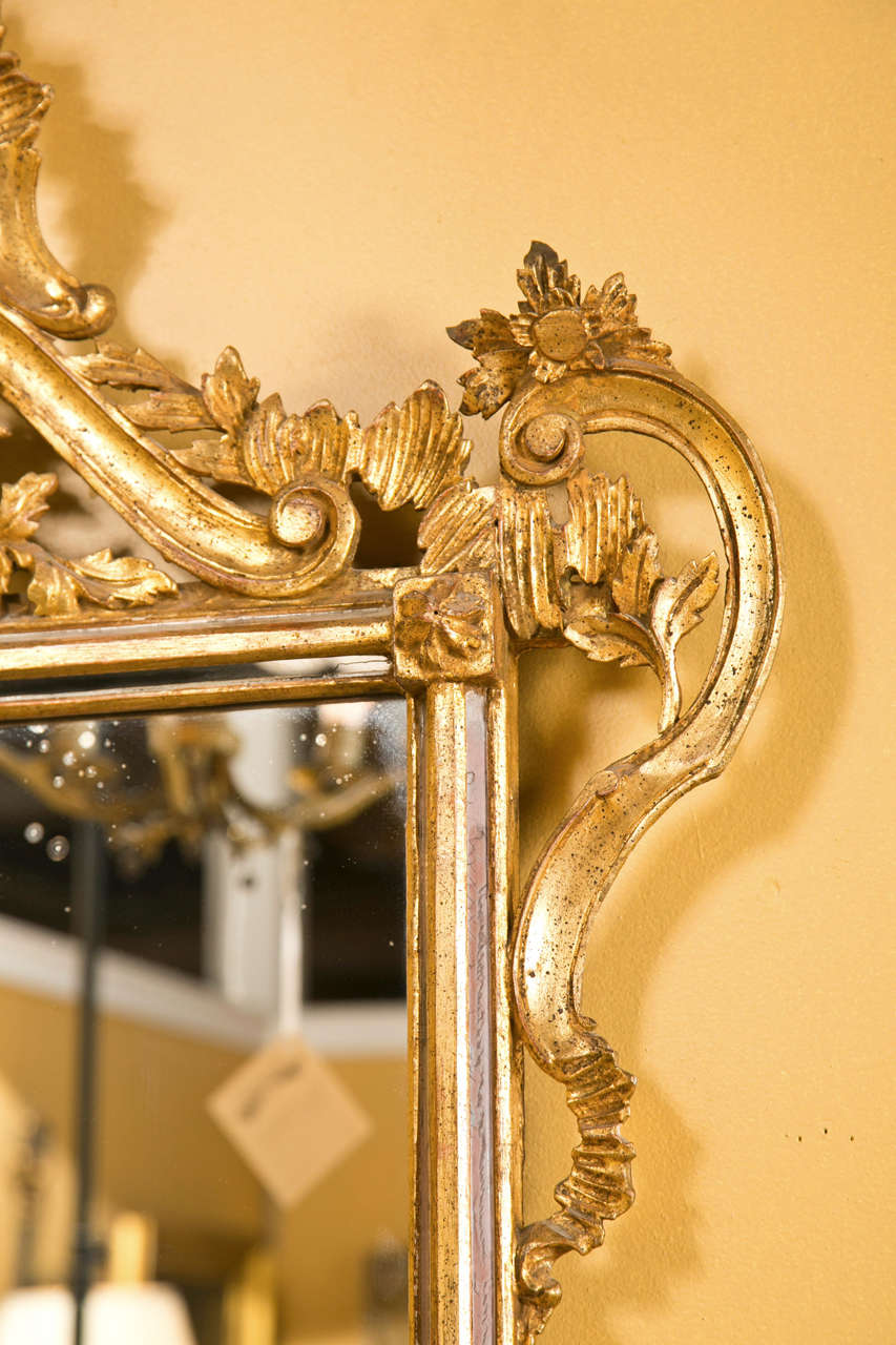 Decorative Giltwood Mirror Rectangular Frame Decorated With Foliage ...