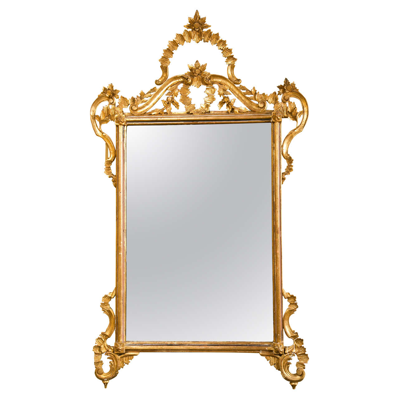 Decorative giltwood mirror for sale at 1stdibs for Fancy mirrors for sale