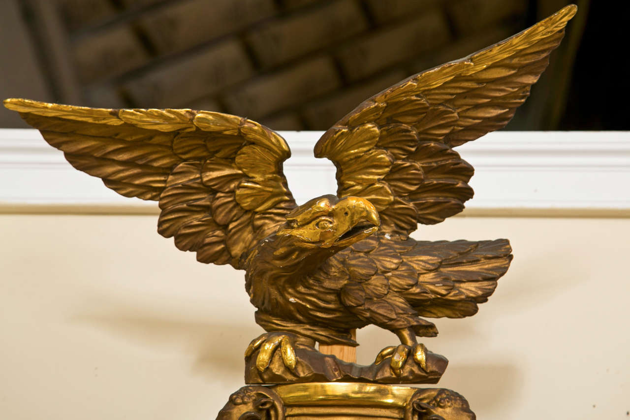 American Federal Style Eagle Convex Mirror At 1stdibs