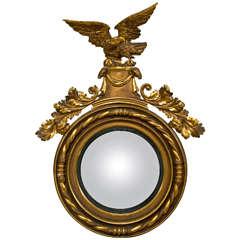 American Federal Style Eagle Convex Mirror