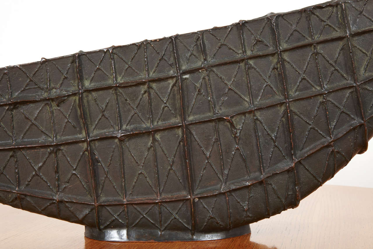 Bronze barge by Henri-Georges Adam, 1956 For Sale 2