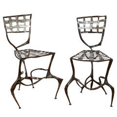 Two Steel Copperware Chairs, 2008 / 2013 by Manuel Simon.