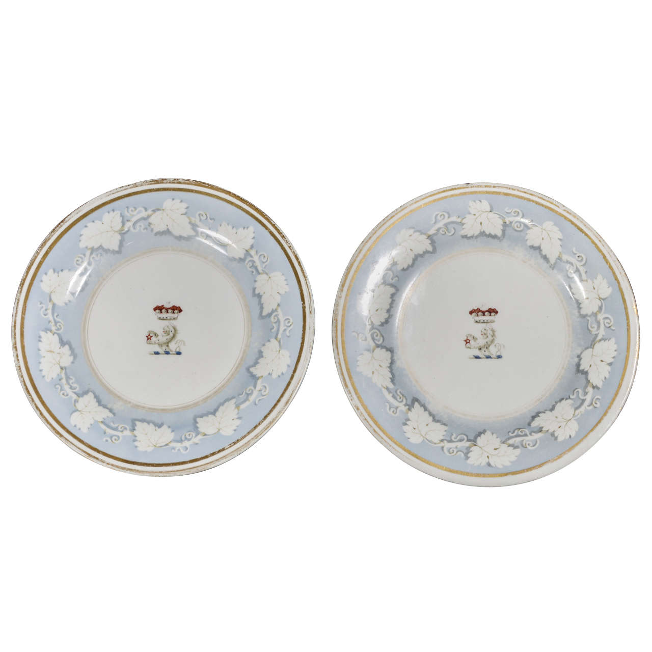 Pair of Flight, Barr & Barr Plates - Worcester Porcelain