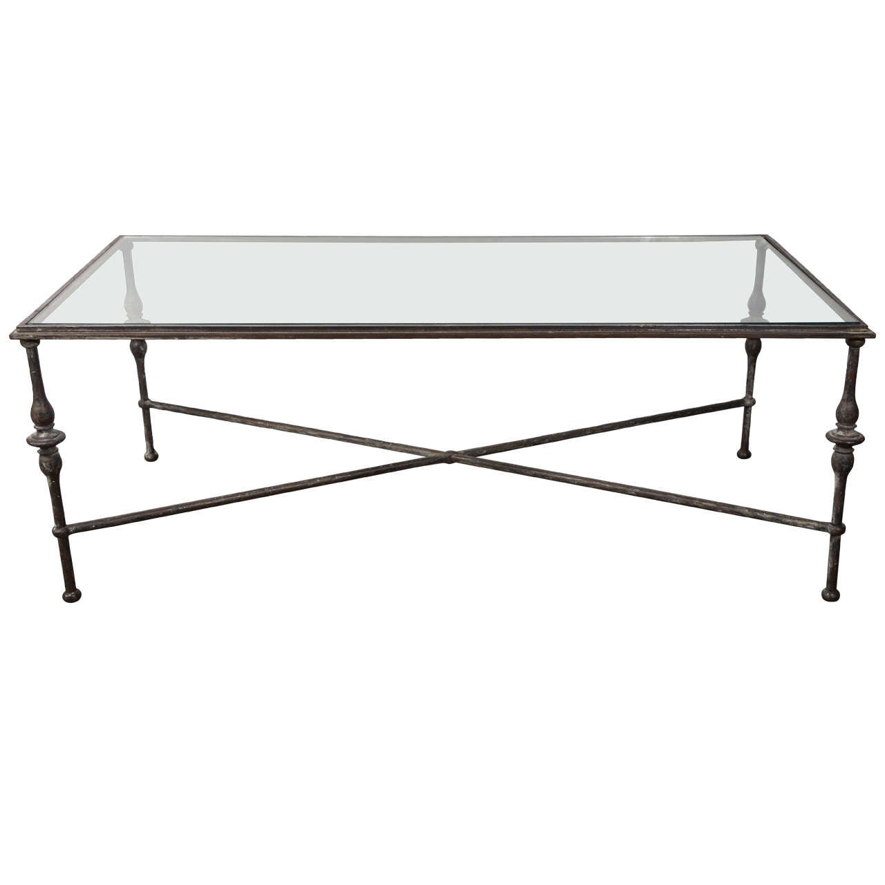 Vintage French Bronze Coffee Table