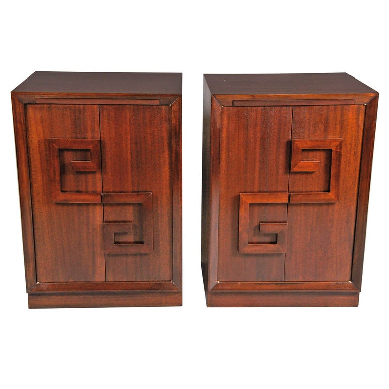 Pair of Kittinger Bedside Cabinets For Sale