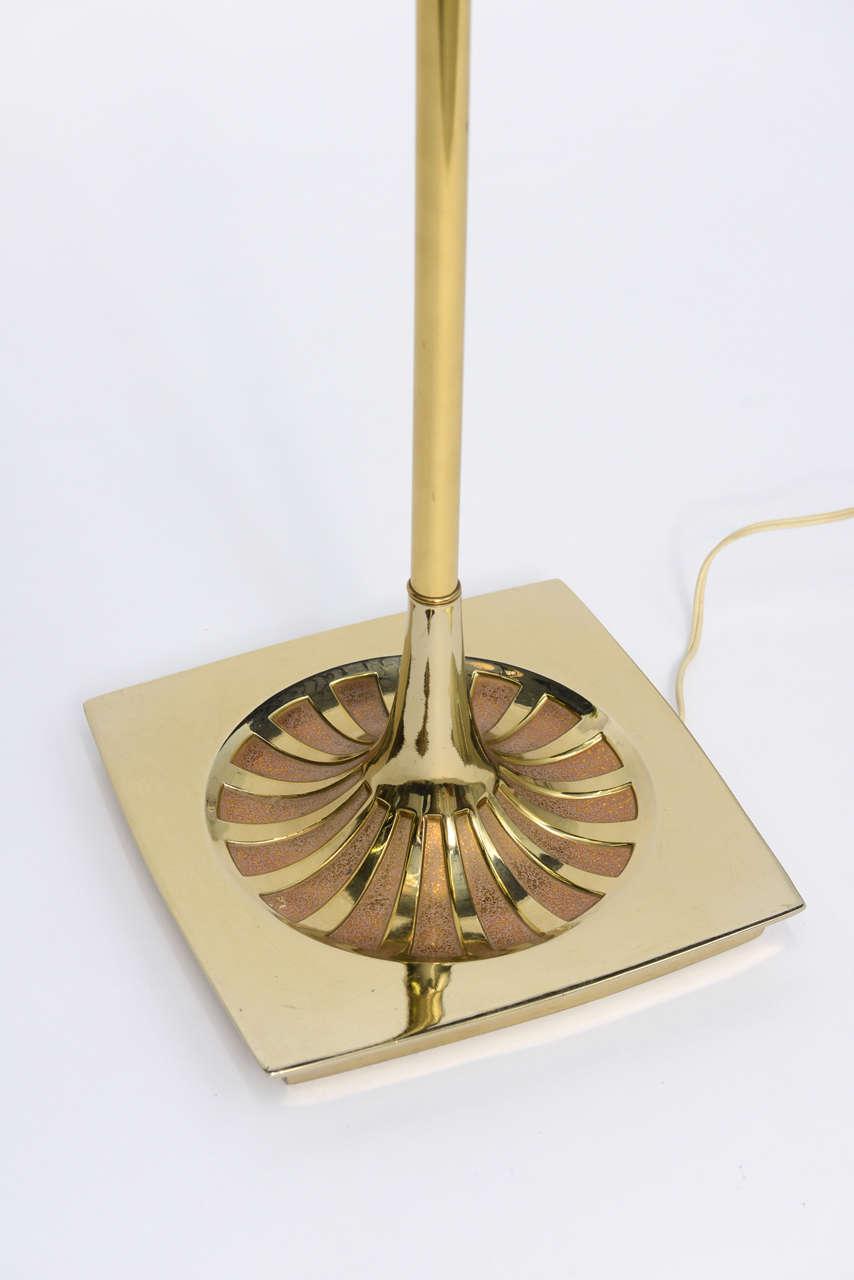 American Laurel Brass Nessen Style Floor Lamp For Sale