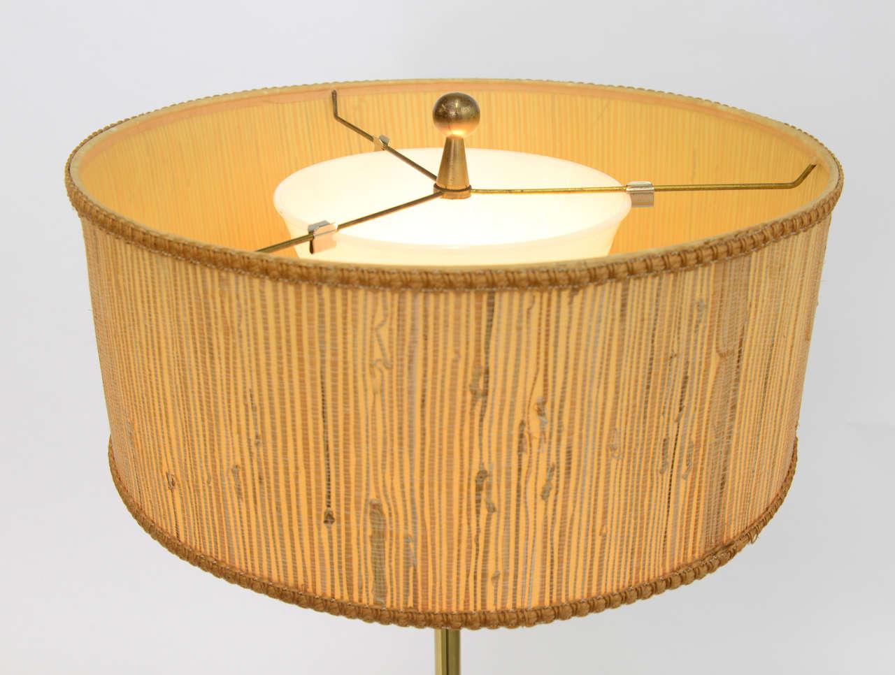 Mid-20th Century Laurel Brass Nessen Style Floor Lamp For Sale