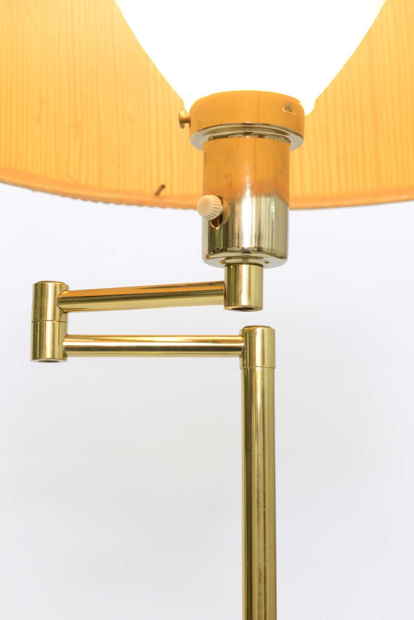 Laurel Brass Nessen Style Floor Lamp For Sale 1