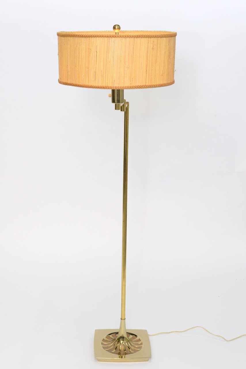 Laurel Brass Nessen Style Floor Lamp For Sale 4