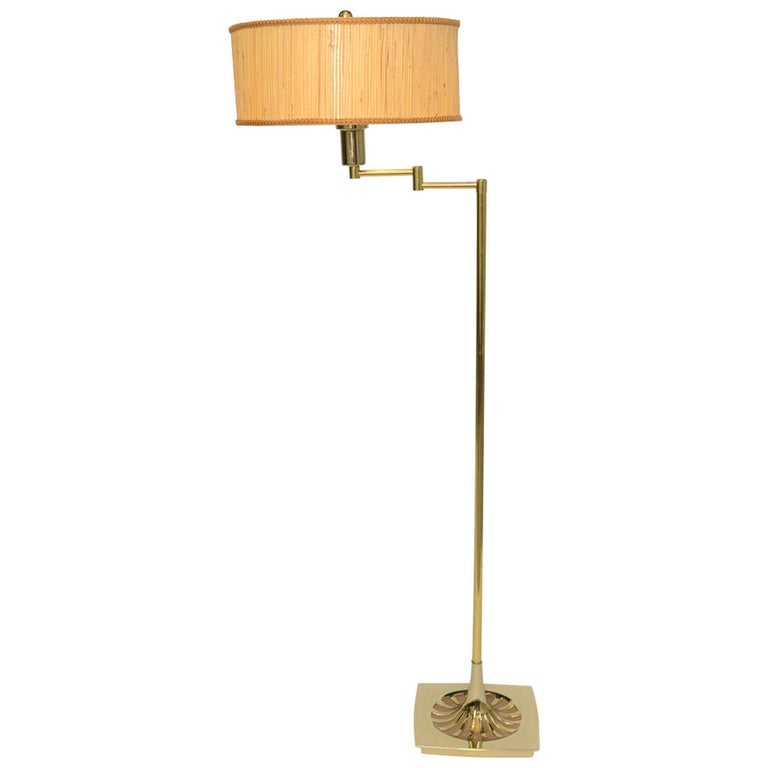Laurel Brass Nessen Style Floor Lamp For Sale