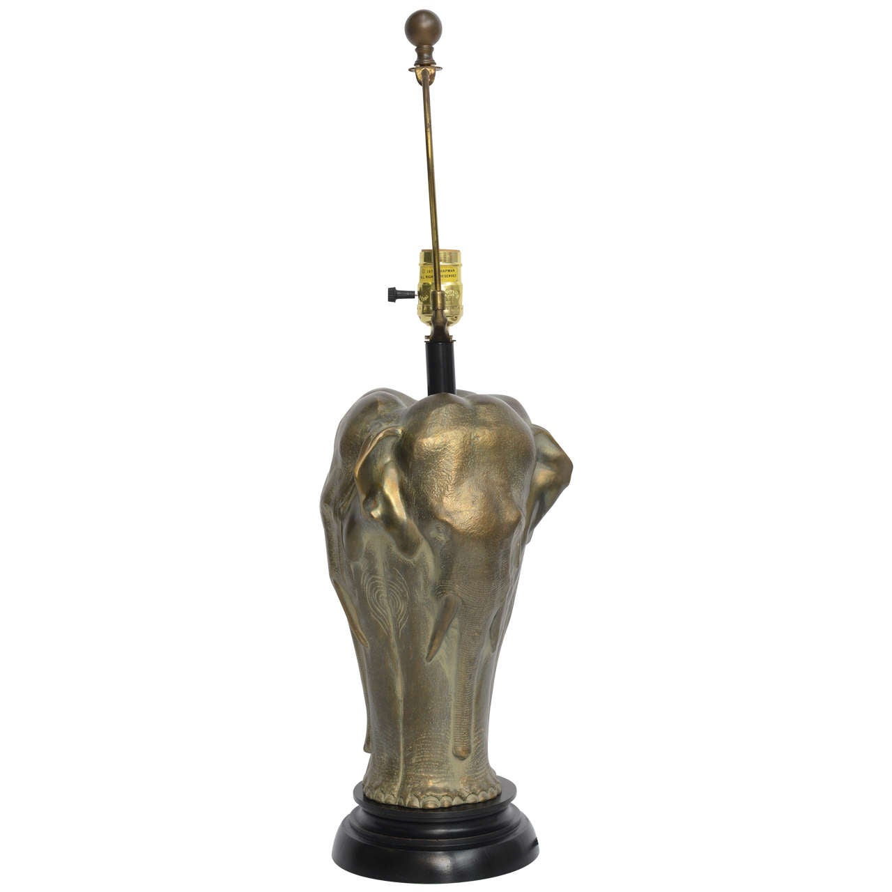 Chapman Sculptural Bronze Elephant Table Lamp at 1stdibs