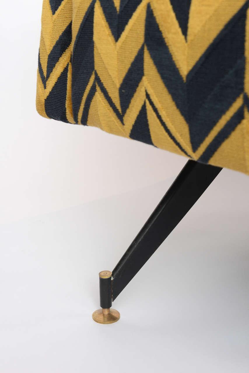 Mid-20th Century Original Pair of Chic Lounge Chairs by Osvaldo Borsani For Sale