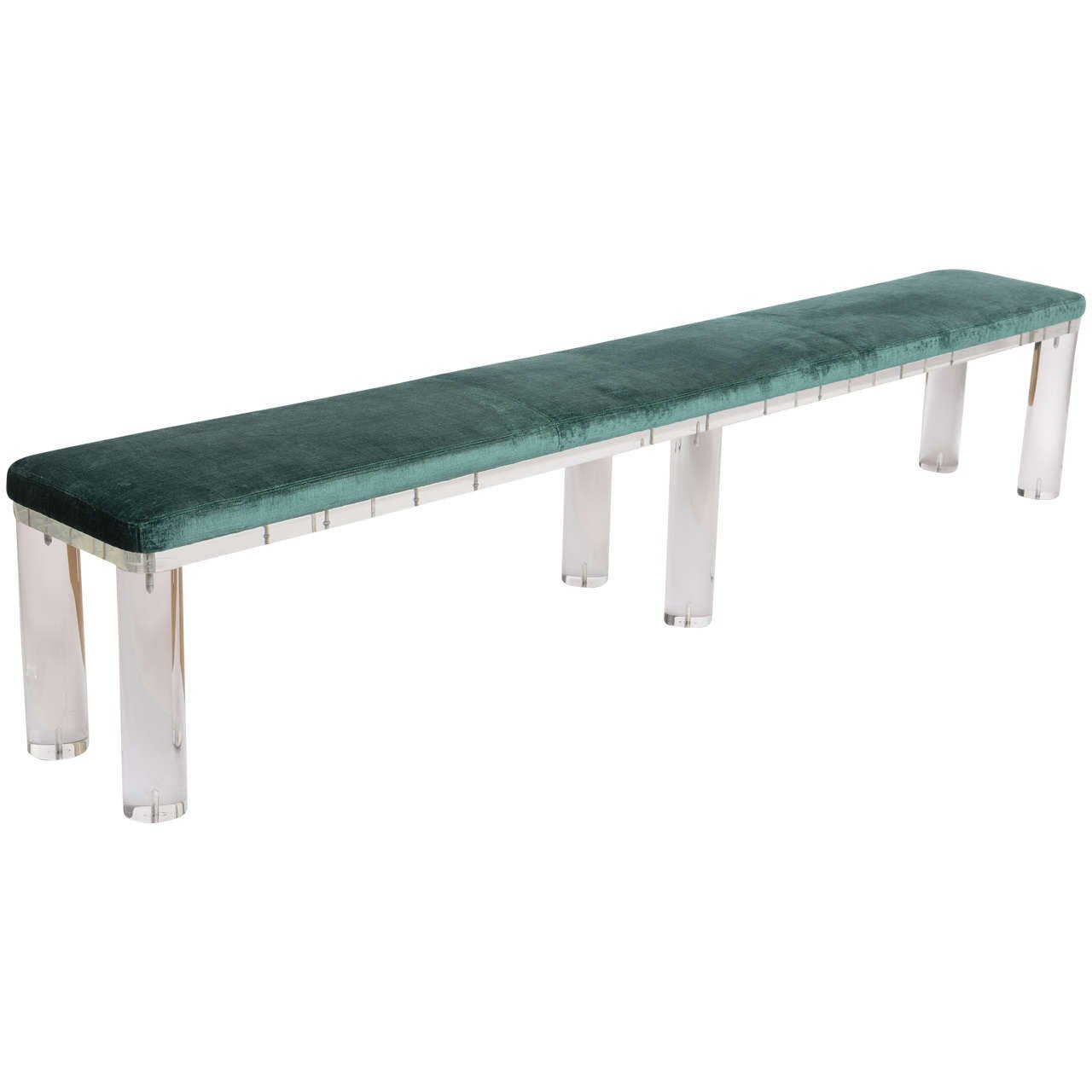 Extra Long Lucite Bench At 1stdibs