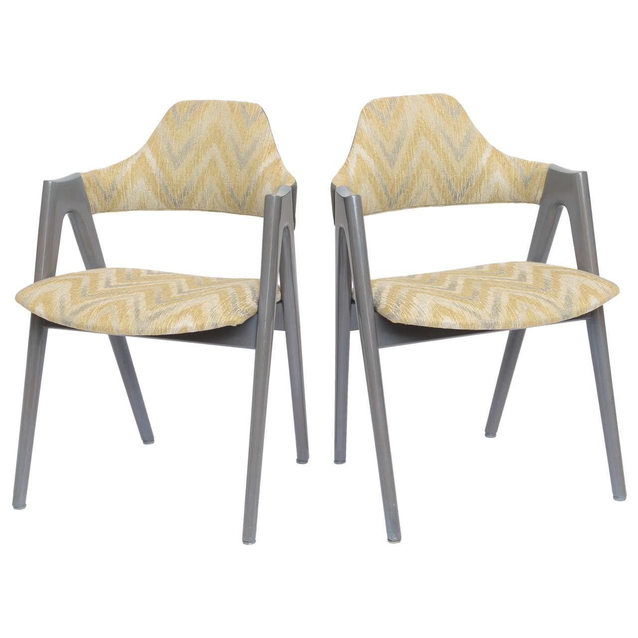 Original Vintage Kai Kritiansen Compass SVA Mobler Chairs, Pair