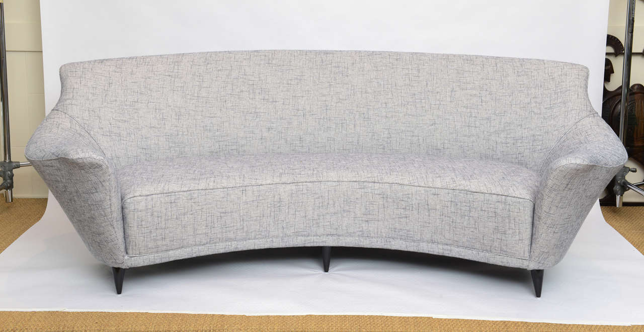Ico Parisi Curved Back Sofa Manufactured By Ariberto Colombo 2