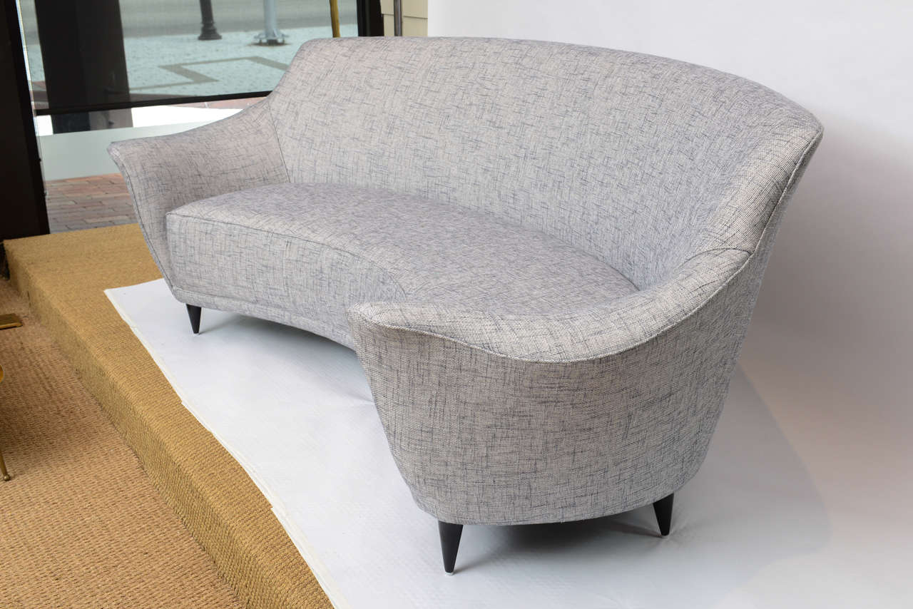 Ico Parisi Curved Back Sofa Manufactured By Ariberto Colombo 3