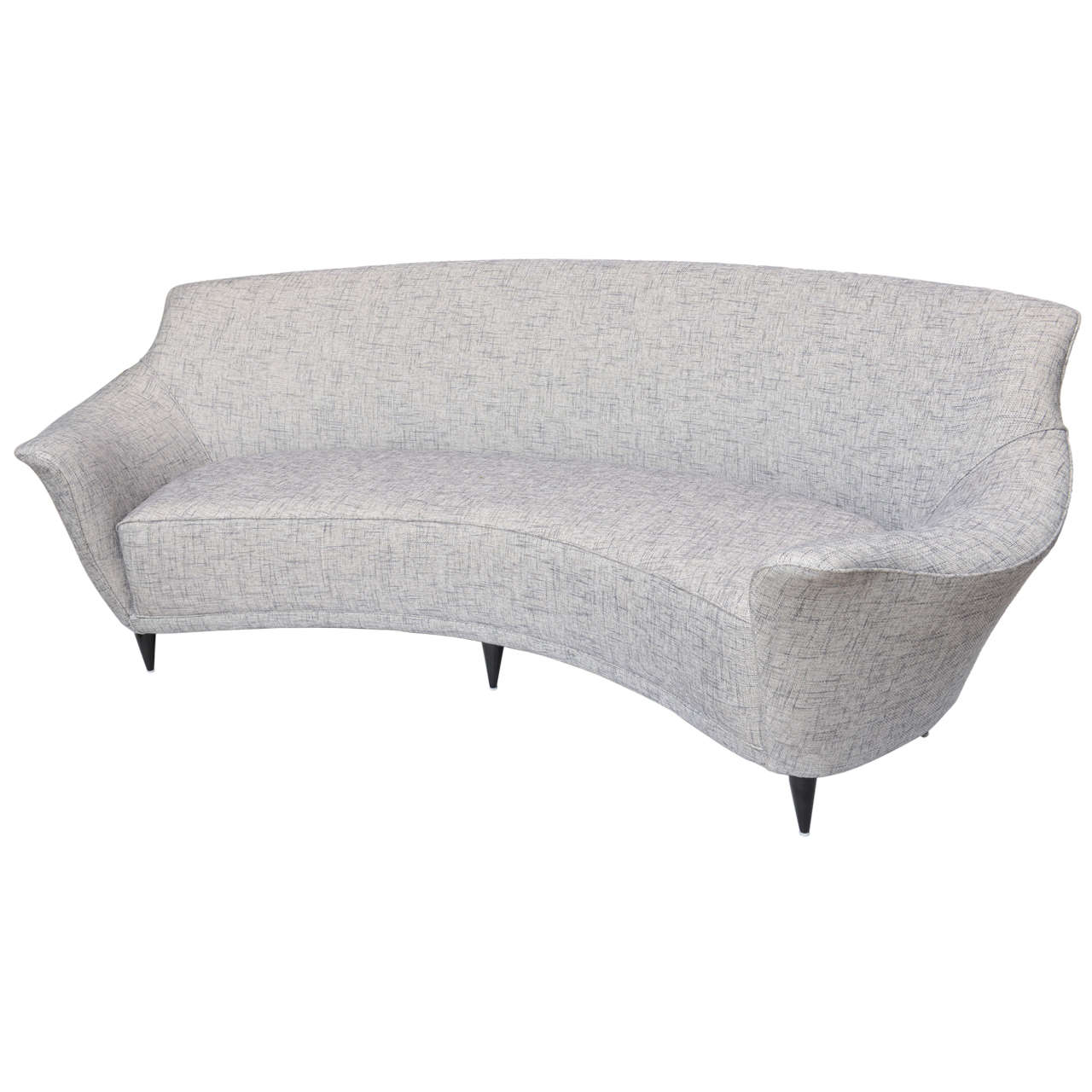 Ico Parisi Curved Back Sofa Manufactured By Ariberto Colombo For